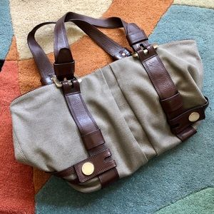 MK Canvas + Leather Tote Bag